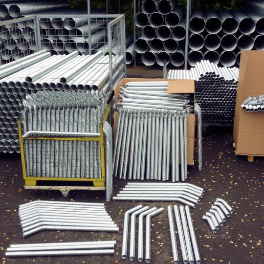 Flexible cavity pipes